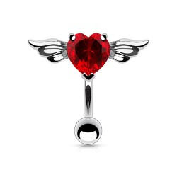 Piercing nombril inversé cœur rouge ailé Zay Piercing nombril4,95 €