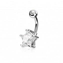 Piercing nombril avec une étoile en zirconium blanc Tyc Piercing nombril5,75€