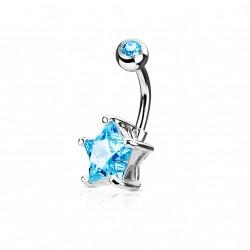 Piercing nombril avec une étoile en zirconium bleu Tazuy Piercing nombril5,75€