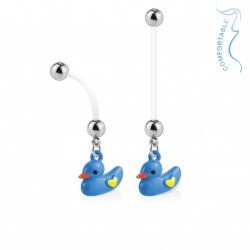 Piercing nombril bioflex de grossesse canard bleu Noly Piercing nombril5,99 €