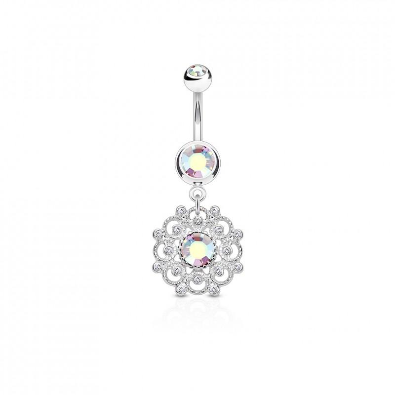 piercing nombril anneau vintage et crystal aurore bor ale vixy 7. Black Bedroom Furniture Sets. Home Design Ideas