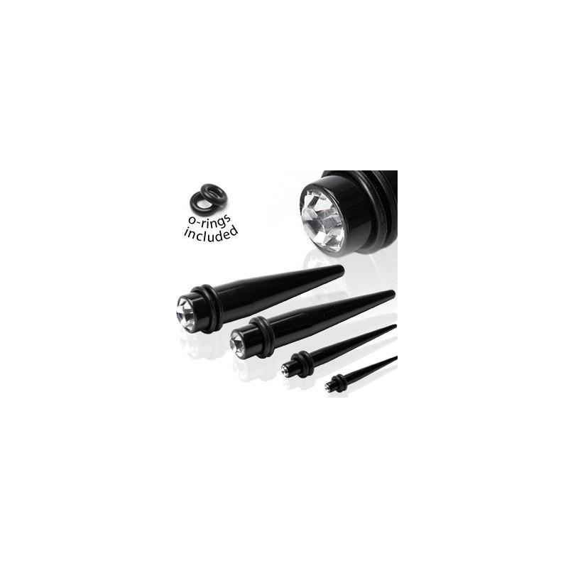 Piercing oreille écarteur noir 6mm Jaya Piercing oreille4,20€