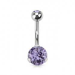 Piercing nombril avec un zirconium tanzanite Kom NOM464