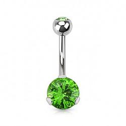 Piercing nombril avec un zirconium vert Maxy NOM464