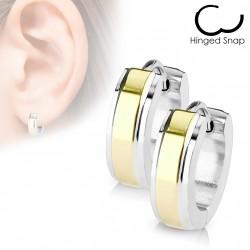 Boucles anneaux acier stainless stell doré Wykem