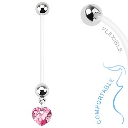 Piercing nombril grossesse coeur rose Cahuo NOM381