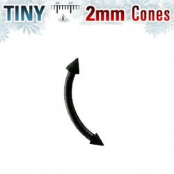 Piercing arcade 10mm pointes noire 2mm Xady ARC054