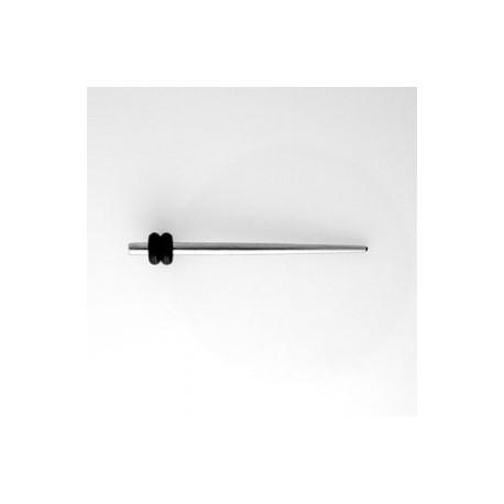 Piercing écarteur oreille acier 2,5mm Vat COR005