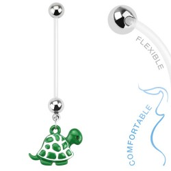 Piercing nombril grossesse tortue verte Tuz NOM237
