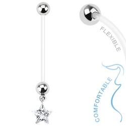 Piercing nombril grossesse étoile blanche Curt NOM382