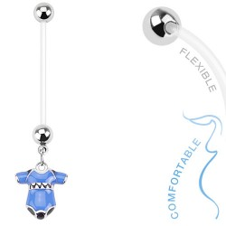 Piercing nombril grossesse layette bleu Faz NOM385