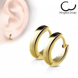 Boucle anneau oreille acier stainless stell doré Cyx ANN006