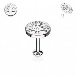 Piercing labret acier 8mm avec un arbre de vie Nik Piercing labret3,49€
