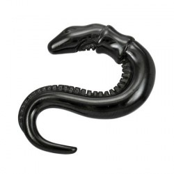 Piercing corne 5mm serpent noir Wad