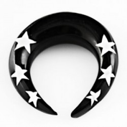 Piercing corne noire et étoiles 6mm Somy COR012