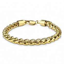 Bracelet en acier Stainless Steel doré Zyx BRA037