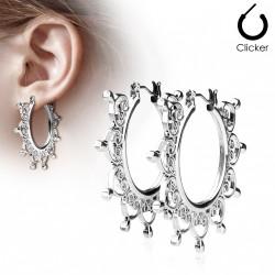 Boucle d'oreille avec filigrane en forme de cœurs Zasa BOU022
