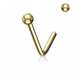 Piercing nez doré en forme de boule de 2mm Baqy NEZ133