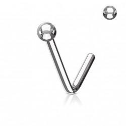Piercing nez acier en forme de boule de 2mm Nalox NEZ132