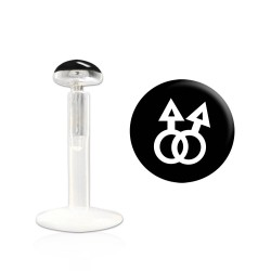 Piercing labret 6mm lui et lui gay pride Tol LAB035