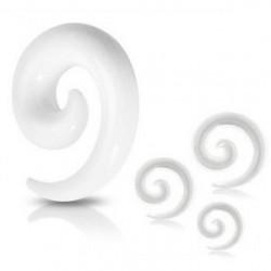 Piercing corne blanche oreille 4mm Suda