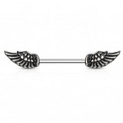 Piercing téton 14mm avec des ailes d'ange Dyhu TET096