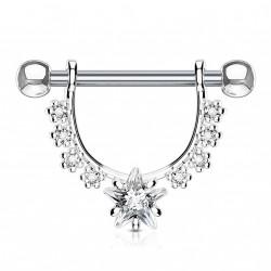 Piercing téton étrier avec une étoile en zirconium Wamy Piercing téton5,70€