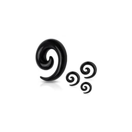 Piercing corne noire oreille 6mm Sirin COR021