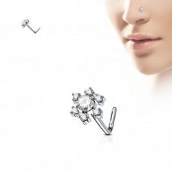 Piercing nez fleur avec pierres de zirconium Kada NEZ145