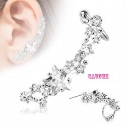 Boucle d'oreille gauche et étoile en zirconium Kax Bijoux6,90€