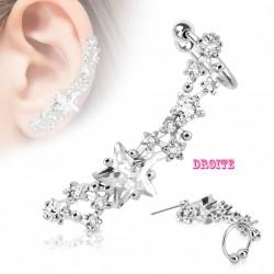 Boucle d'oreille droite et étoile en zirconium Kad Bijoux6,90€