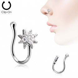 Faux piercing de nez starburst et zirconiums Kayn Faux piercing3,20€