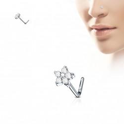 Piercing nez fleur avec cinq pétales en zirconium Kvax NEZ146