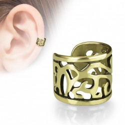 Faux anneau d'oreille avec filigrane doré antique Basy