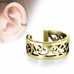 Faux anneau avec filigrane en coeur doré antique Bay FAU348