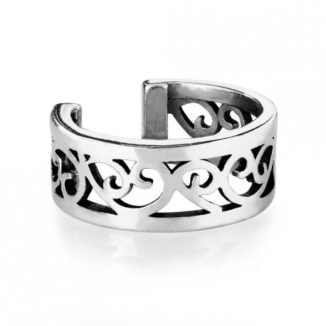 Faux anneau avec filigrane en coeur silver Hoay FAU348