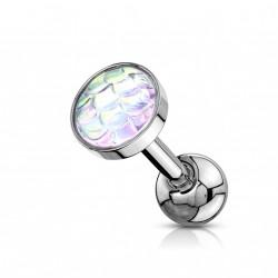 Piercing Tragus Hélix avec des reflets d'écailles aurore boréale Kix TRA117