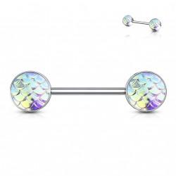 Piercing téton 14mm aux reflets d'écailles aurore boréale Fyx Piercing téton3,95€