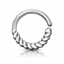 Piercing anneau septum style torsadé pour le nez Liko