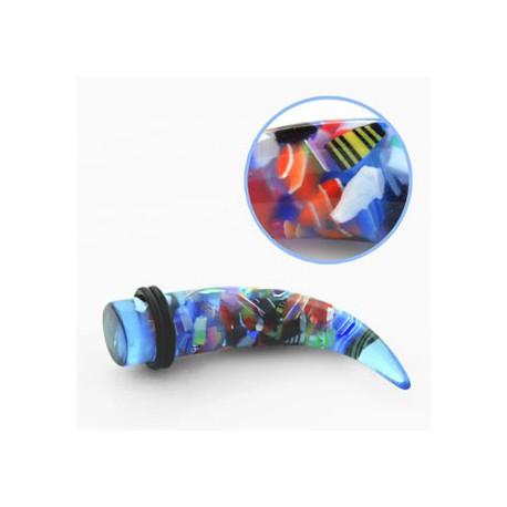 Piercing corne écarteur 10mm bleuté Paha COR042