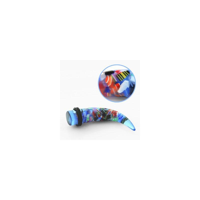 Piercing corne écarteur 10mm bleuté Paha Piercing oreille5,49€