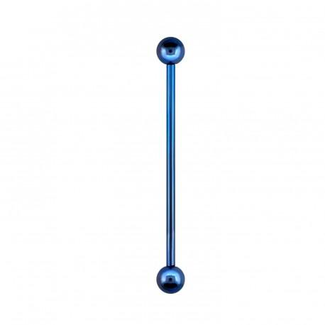 Piercing industriel 32mm bleu avec boules Pyol Piercing oreille4,80€