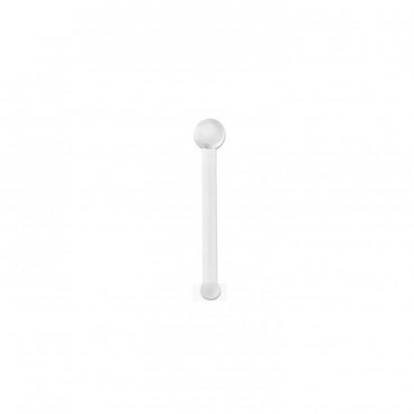 Piercing nez tige 0,6mm blanche avec boules 1,5mm Cijo NEZ160