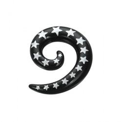 Piercing corne noir étoile 3mm Wonp COR047