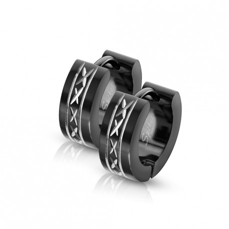 Boucle anneau oreille avec motifs ciselés Cyjo ANN045