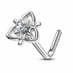 Piercing nez coudé en forme de coeur en filigrane Qyx NEZ161