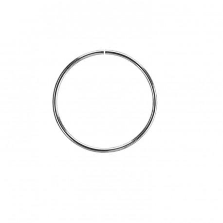 Piercing anneau acier de 25mm x 1,6mm fermé Hiko ANN139