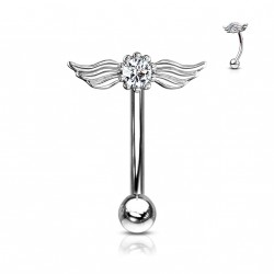 Piercing arcade aux ailes d'anges et crystal Waqo ARC123