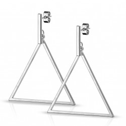 Boucle d'oreille métal en forme de triangle Hiko