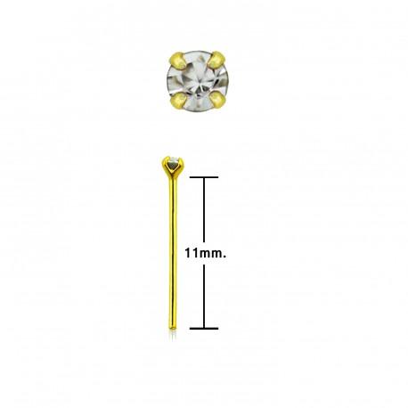 Piercing nez doré à plier et zirconium de 1,5mm serti Sukmi NEZ166